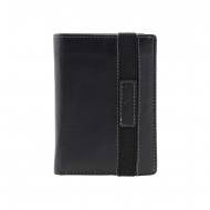 Fecho elástico de couro carteira dentro da bolsa