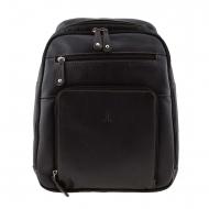Homem, mochila, pele, multi-bolso, asita