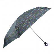 Benetton mini guarda-chuva preto de bolinhas