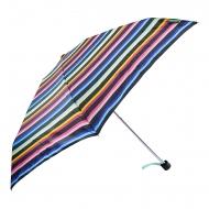 Benetton mini guarda-chuva preto listrado manual