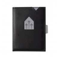 Carteira Exentri com proteção RFID em couro preto
