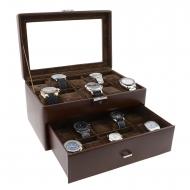 Caso 20 relógios de couro