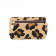 Bolsa de couro de leopardo