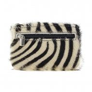 Chaveiro de carteira de pele de zebra