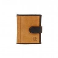 Bolsa e carteira pequena de couro dividido