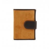Carteira, carteira e porta-cartões de couro rachado