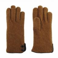 Luvas de lã e botões de couro