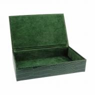 Grande caixa vazia, gravada em coco
