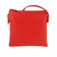 Bolsa de couro plana quadrada com alça de ombro
