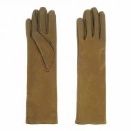 Luvas semi-longas em couro metalizado