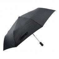 Guarda-chuva de cavaleiro listrado preto abre-fecha