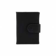 Bolsa carteira de couro preto