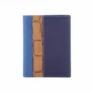 Titular de cartão em couro tricolor
