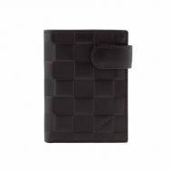 Bolsa carteira com fecho de couro áspero