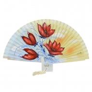projeto Fan com flores vermelhas