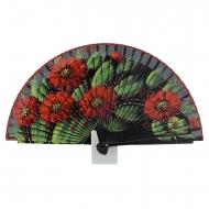 cinco flores vermelhas de design ventilador preto