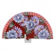 Projeto Fan Red flores roxas e cinzentas