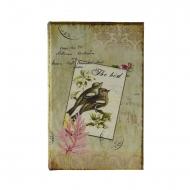 Cofre com livro de tipo de pássaro