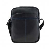 Bolsa de homem em couro preto de Miguel Bellido