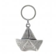 Porta-chaves para barco de papel